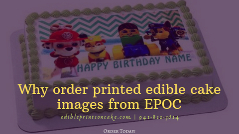 Printed Cake Image - Edible Prints on Cake