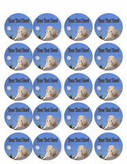 White Lion - Edible Cake Topper, Cupcake Toppers, Strips