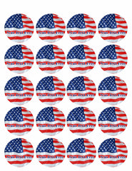 American Flag (Nr1) - Edible Cake Topper, Cupcake Toppers, Strips