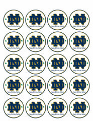 Notre Dame Fighting Irish - Edible Cake Topper OR Cupcake Topper, Decor