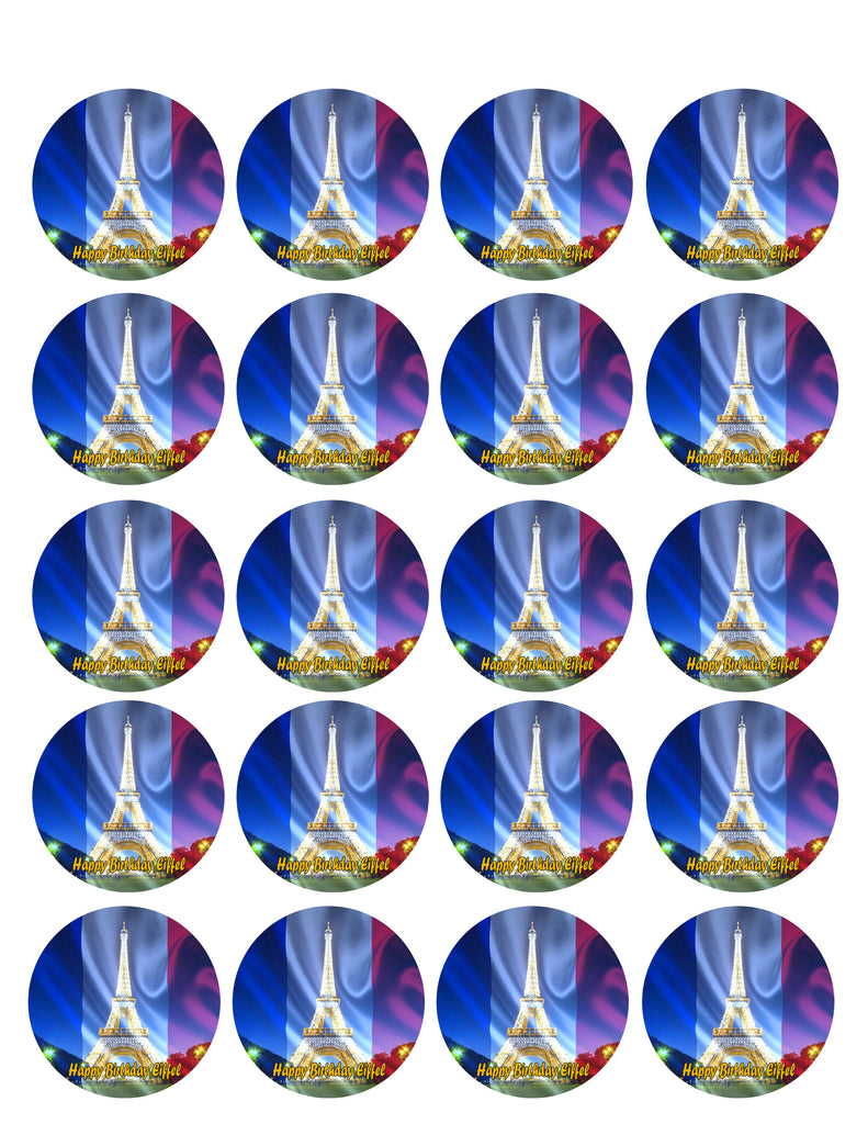 Eiffel Tower Edible Cake Topper Or Cupcake Toppers Edible Prints On Cake Epoc