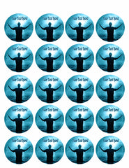 Baptism - Edible Cake Topper, Cupcake Toppers, Strips