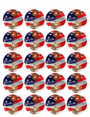 US Marine Corp - Edible Cake Topper OR Cupcake Topper, Decor