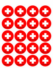 Switzerland flag - Edible Cake Topper, Cupcake Toppers, Strips