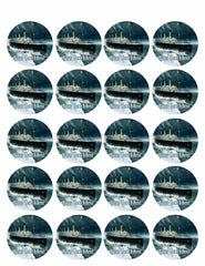 Titanic ship (Nr2) - Edible Cake Topper, Cupcake Toppers, Strips