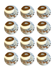 Coffee - Edible Cake Topper, Cupcake Toppers, Strips