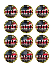 US ARMY - Edible Cake Topper OR Cupcake Topper, Decor
