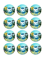OCTONAUTS 1 Edible Birthday Cake Topper OR Cupcake Topper, Decor