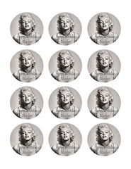 Marilyn Monroe (Nr2) - Edible Cake Topper OR Cupcake Topper, Decor