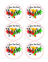 Salsa - Edible Cake Topper, Cupcake Toppers, Strips