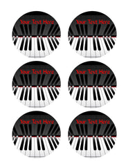 Piano keys (Nr2) - Edible Cake Topper OR Cupcake Topper, Decor