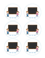 School Timetable (Nr2) - Edible Cake Topper, Cupcake Toppers, Strips