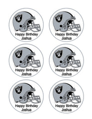 Oakland Raiders - Edible Cake Topper OR Cupcake Topper