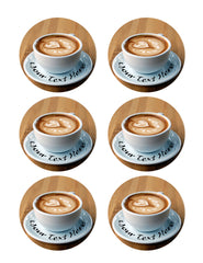 Heart Latte Art - Edible Cake Topper, Cupcake Toppers, Strips