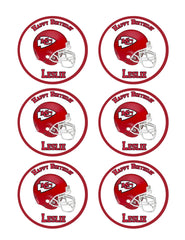 Kansas City Chiefs - Edible Cake Topper OR Cupcake Topper, Decor