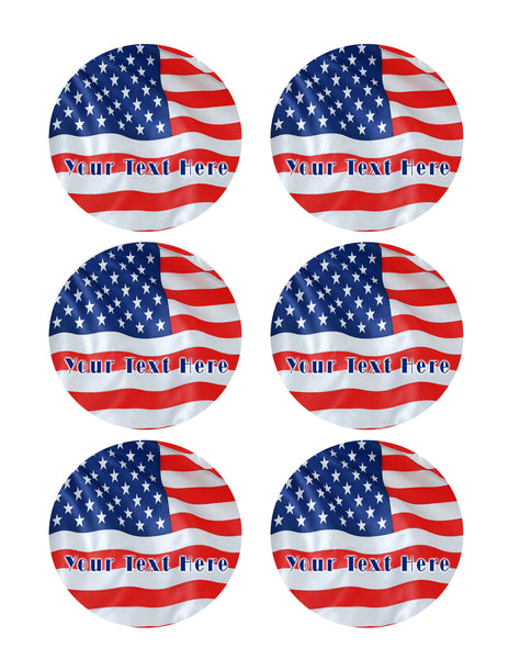 American Flag - Edible Cake Topper, Cupcake Toppers ...