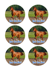 Brown Horse (Nr2) - Edible Cake Topper, Cupcake Toppers, Strips
