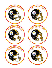 Pittsburgh Steelers - Edible Cake Topper OR Cupcake Topper, Decor