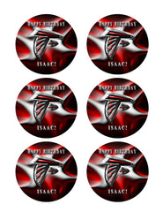 ATLANTA FALCONS (Nr2) - Edible Cake Topper, Cupcake Toppers, Strips