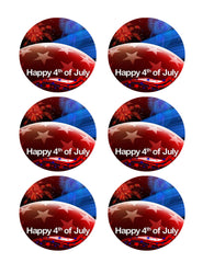 4th of July (Nr2) - Edible Cake Topper, Cupcake Toppers, Strips
