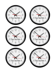 Round wall clock - Edible Cake Topper, Cupcake Toppers, Strips