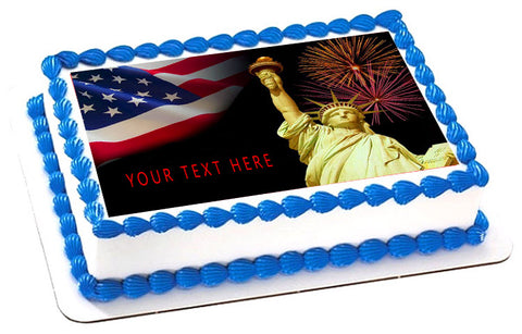 4th of July (Nr1) - Edible Cake Topper, Cupcake Toppers, Strips