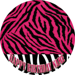 PINK Edible Birthday Cake Topper OR Cupcake Topper, Decor - Edible Prints On Cake (Edible Cake &Cupcake Topper)