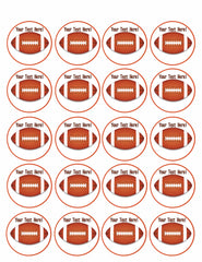 American Football - Edible Cake Topper, Cupcake Toppers, Strips