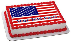 American Flag (Nr2) - Edible Cake Topper, Cupcake Toppers, Strips