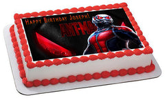 Ant Man - Edible Cake Topper, Cupcake Toppers, Strips