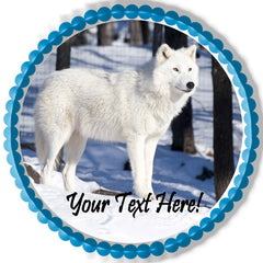 White wolf - Edible Cake Topper, Cupcake Toppers, Strips