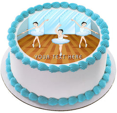 Ballet dancers dancing - Edible Cake Topper, Cupcake Toppers, Strips