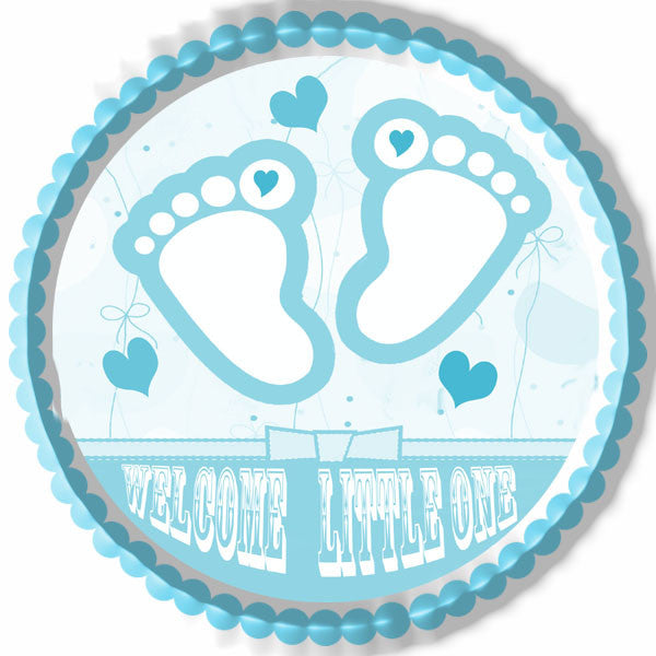 Blue Baby Feet Foot Edible Cake Topper Amp Cupcake Toppers