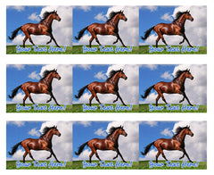 Brown Horse - Edible Cake Topper, Cupcake Toppers, Strips