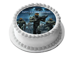 HALO WARS 1 Edible Birthday Cake Topper OR Cupcake Topper, Decor - Edible Prints On Cake (Edible Cake &Cupcake Topper)