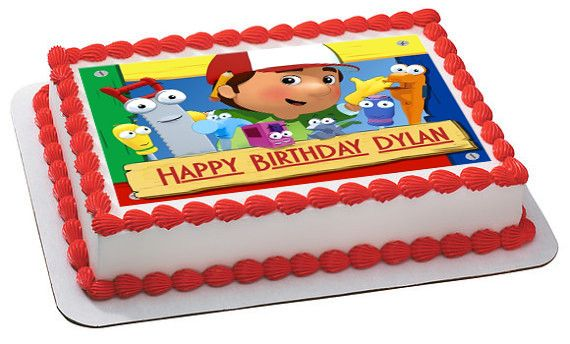 Handy Manny Edible Birthday Cake Topper OR Cupcake Decor
