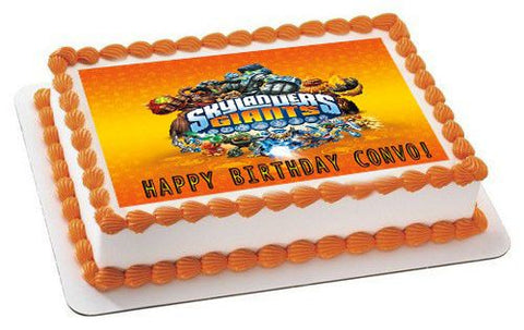 Skylander Giants 1 Edible Birthday Cake Topper OR Cupcake Topper, Decor