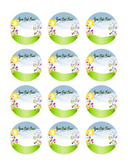 Cartoon Easter Animals Spring - Edible Cake Topper, Cupcake Toppers, Strips