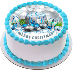 Christmas 6 Edible Birthday Cake Topper OR Cupcake Topper, Decor - Edible Prints On Cake (Edible Cake &Cupcake Topper)