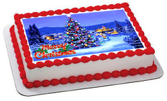Christmas 7 Edible Birthday Cake Topper OR Cupcake Topper, Decor - Edible Prints On Cake (Edible Cake &Cupcake Topper)