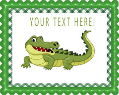 Crocodile - Edible Cake Topper, Cupcake Toppers, Strips