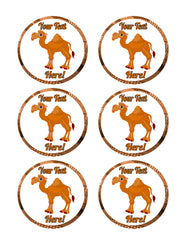 Cute Funny Camel - Edible Cake Topper, Cupcake Toppers, Strips