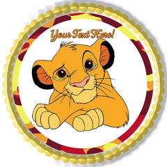 Cute Lion - Edible Cake Topper, Cupcake Toppers, Strips
