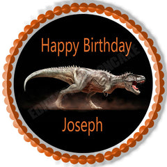 Dinosaur - Edible Cake Topper OR Cupcake Topper, Decor