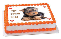 Puppy 2 Edible Birthday Cake Topper OR Cupcake Topper, Decor - Edible Prints On Cake (Edible Cake &Cupcake Topper)