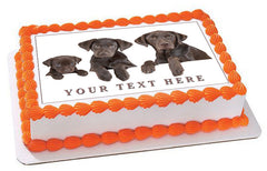 Dog Family - Edible Cake Topper, Cupcake Toppers, Strips