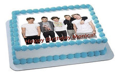 One Direction 1 Edible Birthday Cake Topper OR Cupcake Topper, Decor - Edible Prints On Cake (Edible Cake &Cupcake Topper)