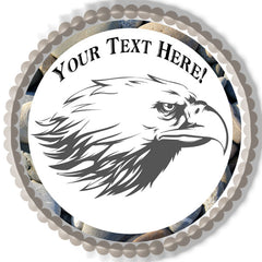 Eagle Head - Edible Cake Topper, Cupcake Toppers, Strips