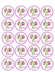 Easter Tree - Edible Cake Topper, Cupcake Toppers, Strips