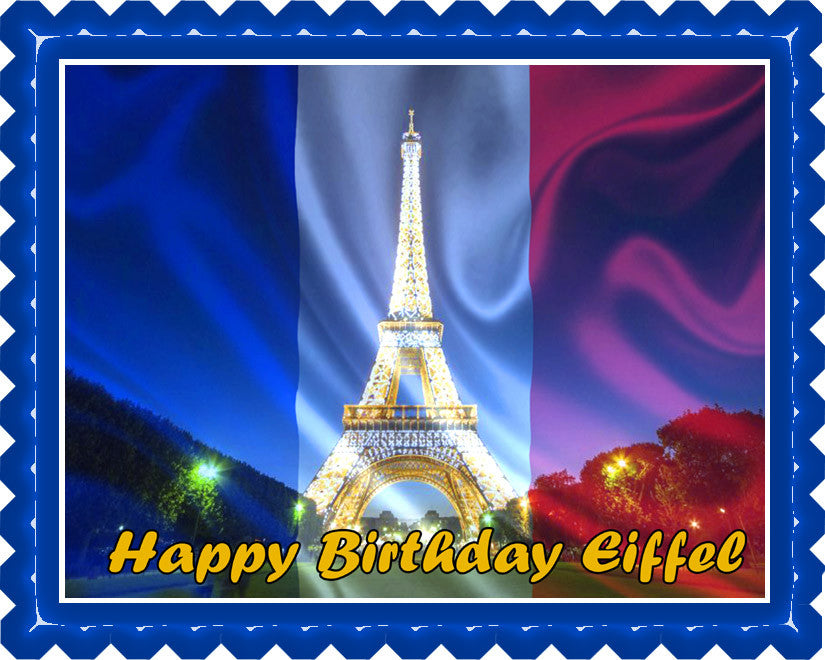 Eiffel Tower - Edible Cake Topper OR Cupcake Topper, Decor